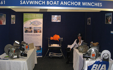 Savwinch anchor winch  boat show display