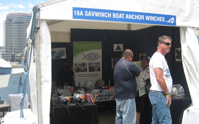 Savwinch marque at the 2012 Melbourne Summer Boat Show