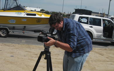 Pablo from Channel 31 filming the new Savwinch TV ad