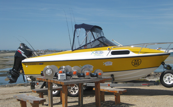 Savwinch products on display at Altona Boat Ramp
