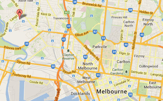 2013 Melbourne National 4x4 boat show Map
