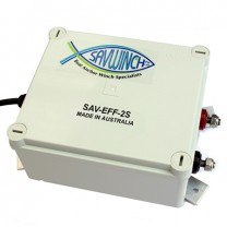 This is a photo of a Savwinch electronic fast fall box with 2 speed fixed speed option